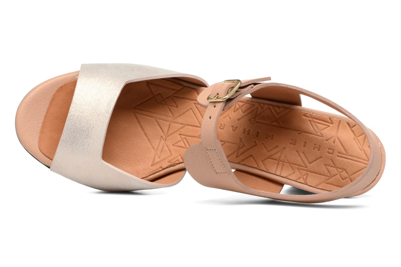 Sandals Chie Mihara Loteria Brown view from the left