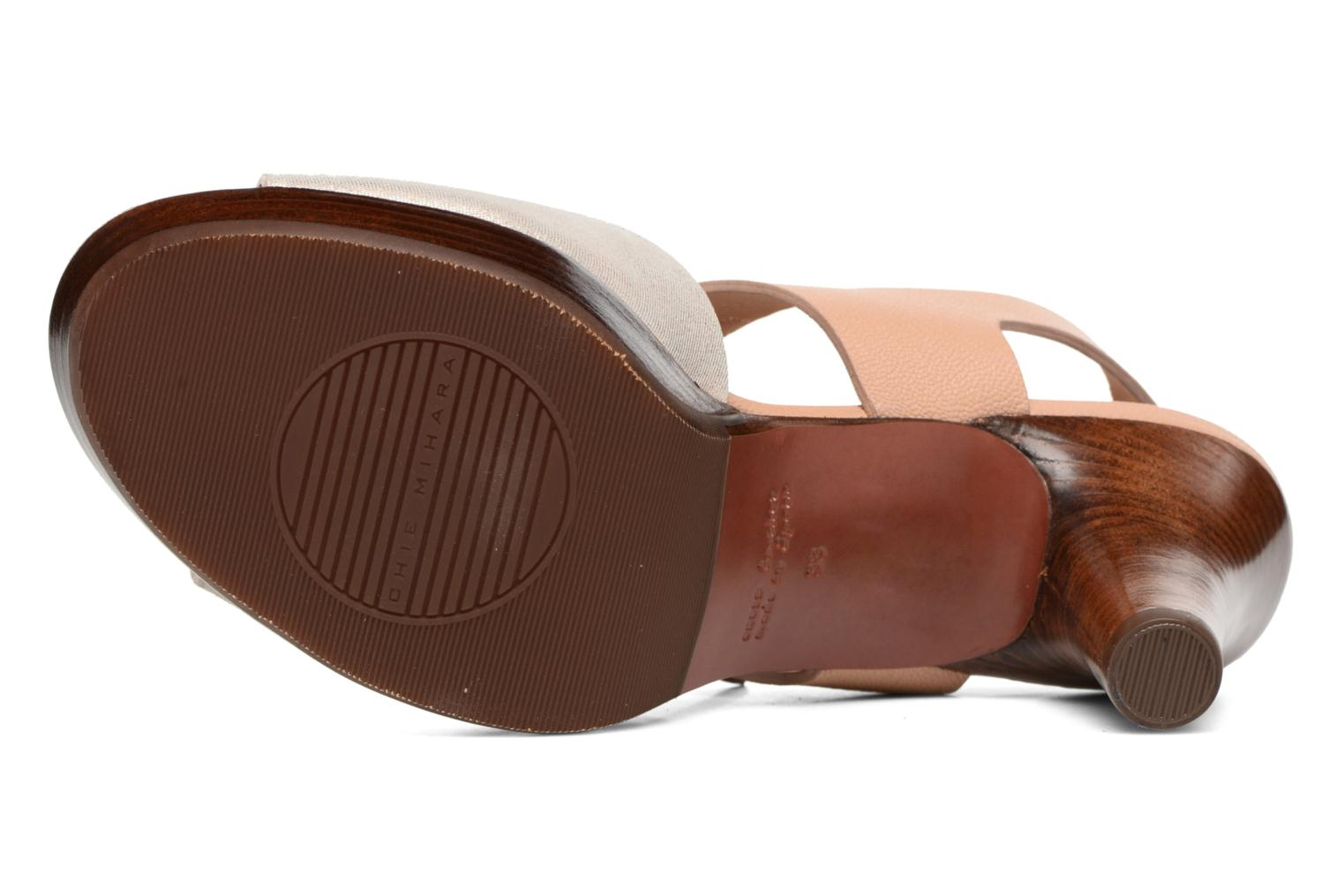 Sandals Chie Mihara Loteria Brown view from above