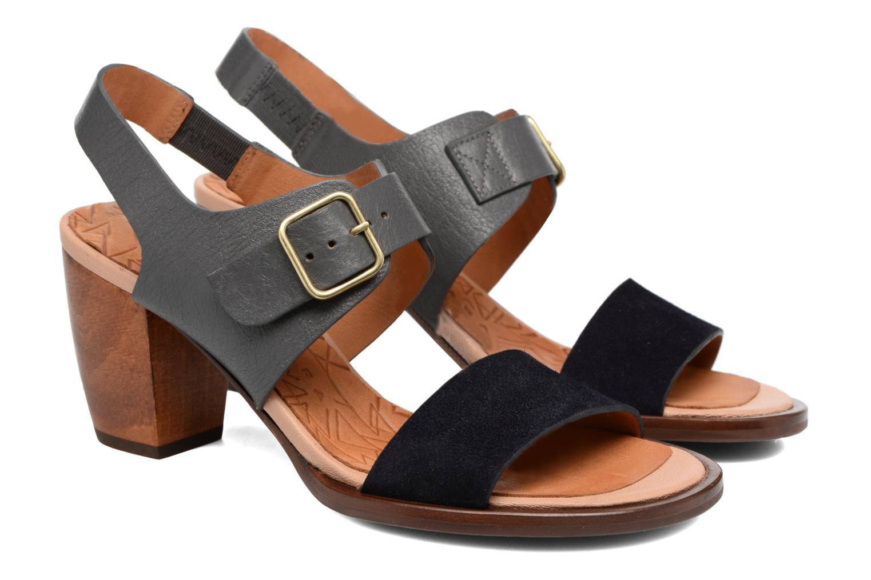 Sandals Chie Mihara Queva Blue 3/4 view