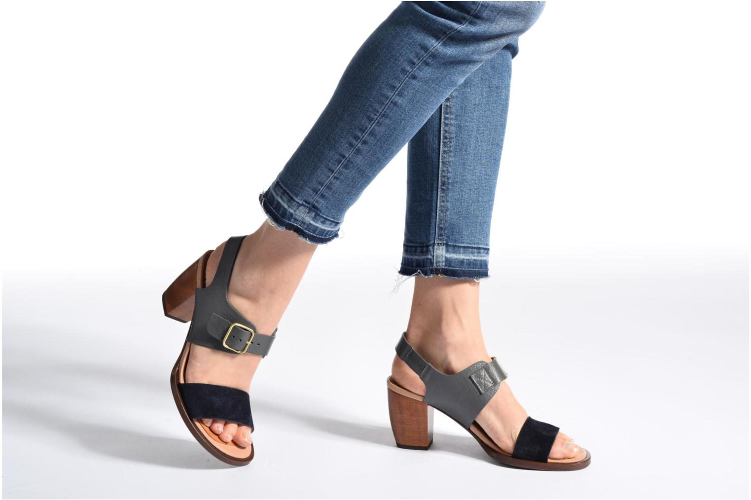 Sandals Chie Mihara Queva Blue view from underneath / model view