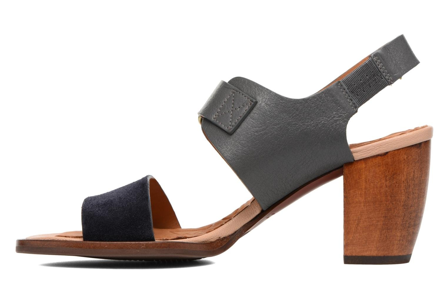 Sandals Chie Mihara Queva Blue front view