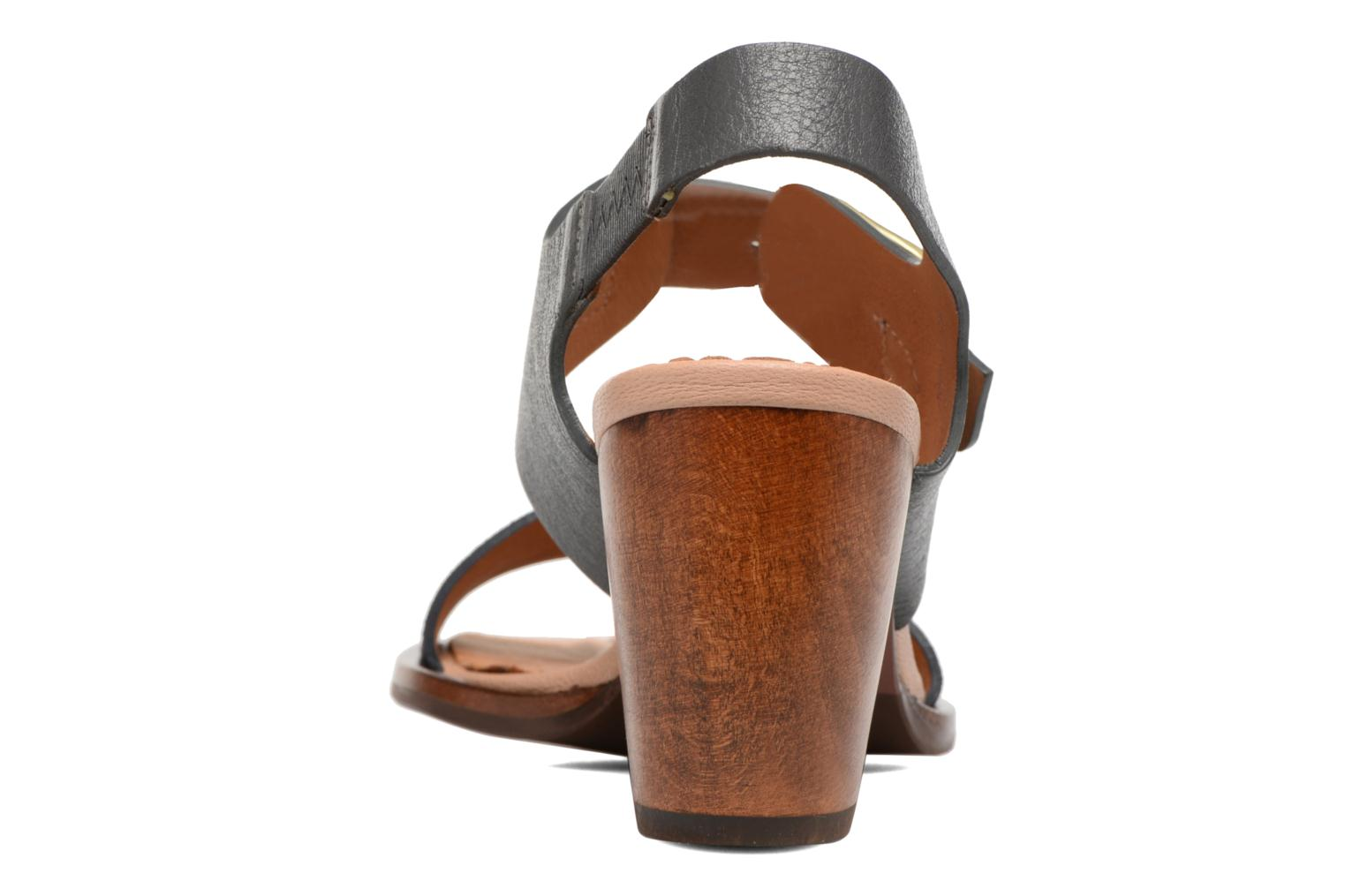 Sandals Chie Mihara Queva Blue view from the right