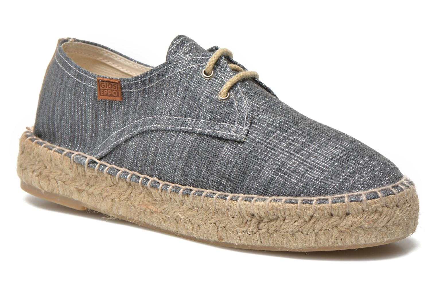 Espadrilles Gioseppo Jaquita Silver detailed view/ Pair view