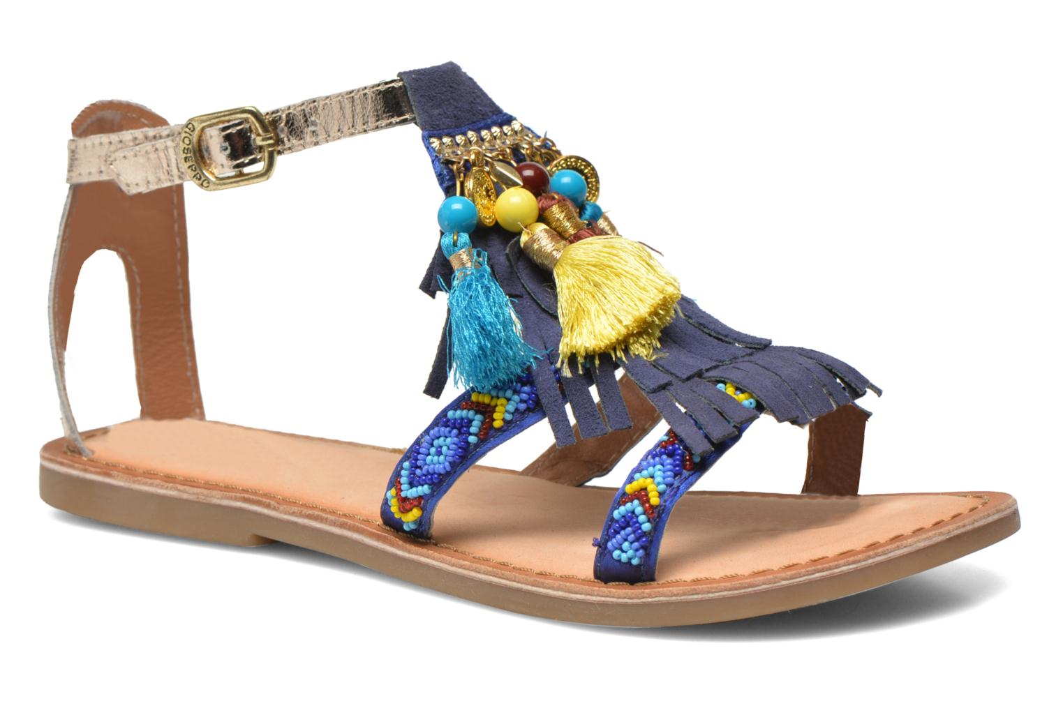 Sandals Gioseppo Dima Blue detailed view/ Pair view