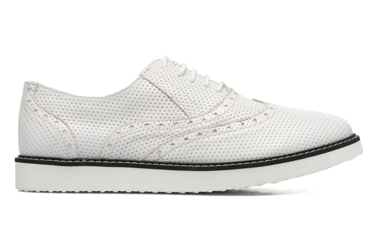 Lace-up shoes Ippon Vintage Andy k perfo White back view