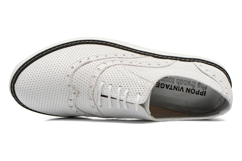 Chaussures à lacets Ippon Vintage Andy k perfo Blanc vue gauche