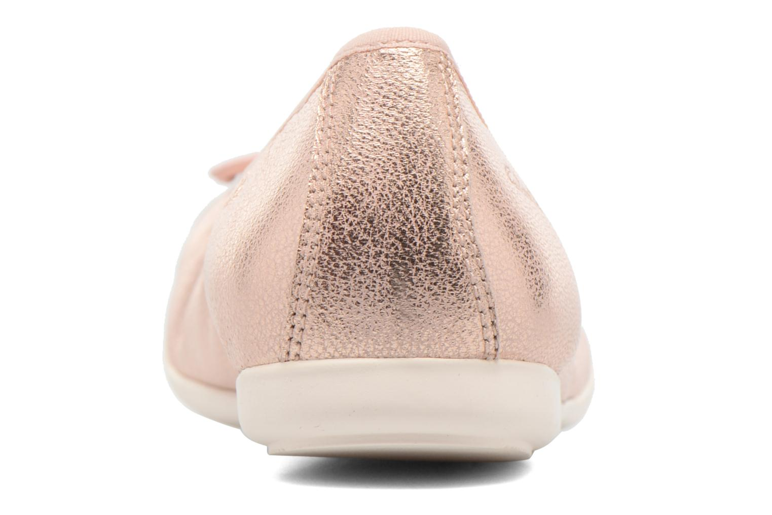 Ballet pumps Clarks Dance Puff Jnr Pink view from the right