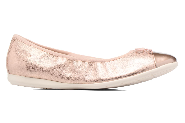 Ballet pumps Clarks Dance Puff Jnr Pink back view