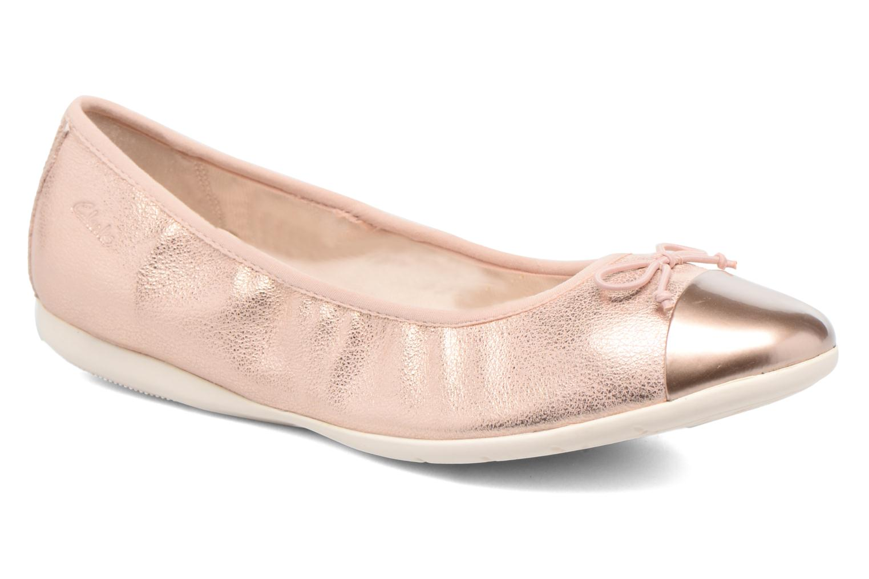 Ballet pumps Clarks Dance Puff Jnr Pink detailed view/ Pair view
