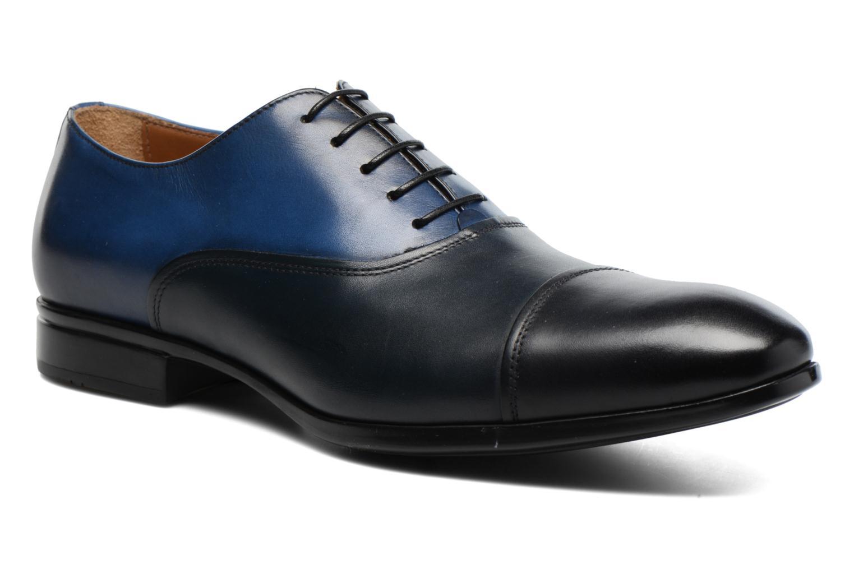 Chaussures à lacets Doucal's Omar short Noir vue détail/paire
