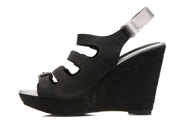 Sandales et nu-pieds Kaporal Rock Noir vue face