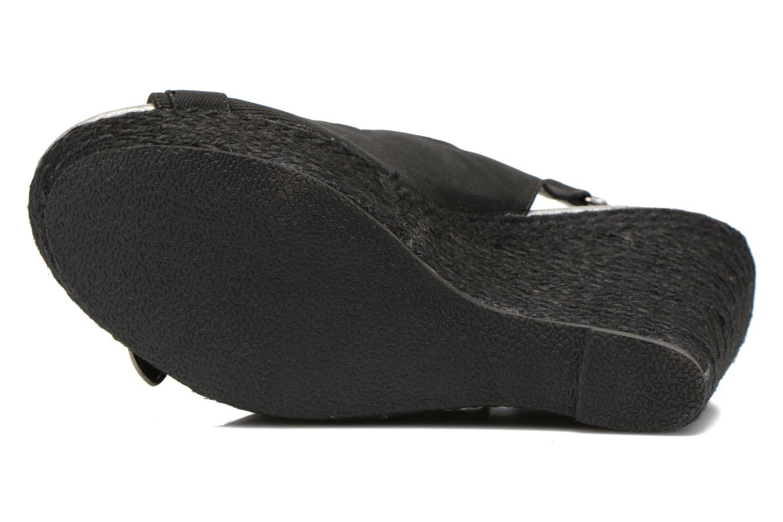 Sandales et nu-pieds Kaporal Rock Noir vue haut