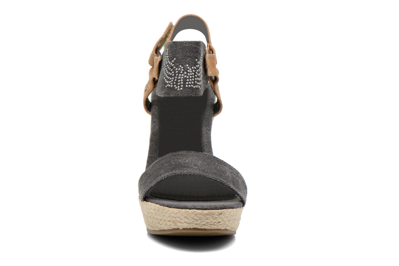 Sandales et nu-pieds Kaporal Rose Noir vue portées chaussures