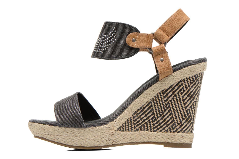 Sandales et nu-pieds Kaporal Rose Noir vue face