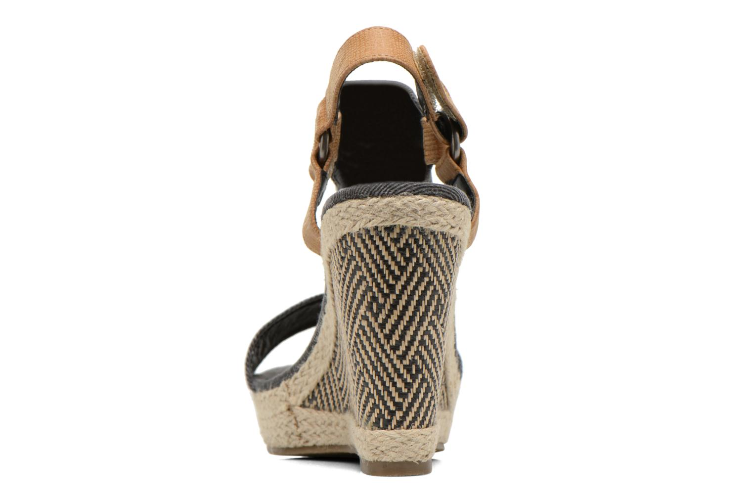Sandals Kaporal Rose Black view from the right