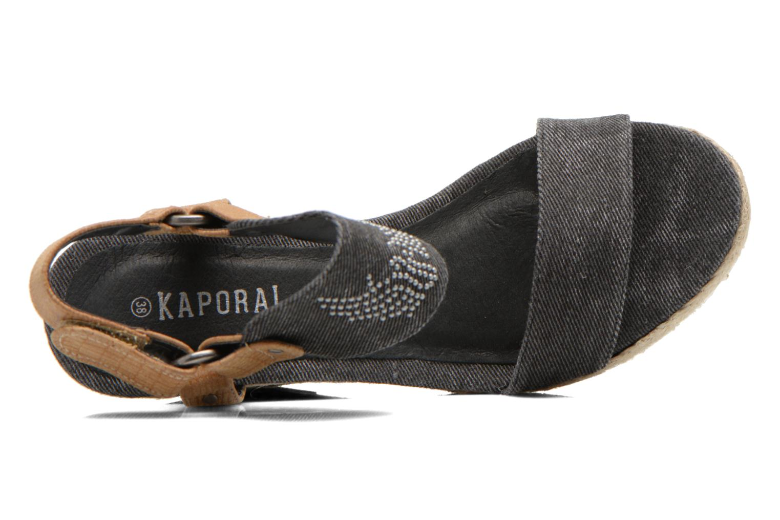Sandals Kaporal Rose Black view from the left