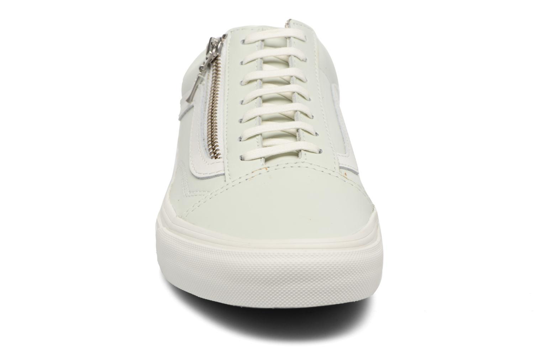 Sneaker Vans Old Skool Zip grün schuhe getragen