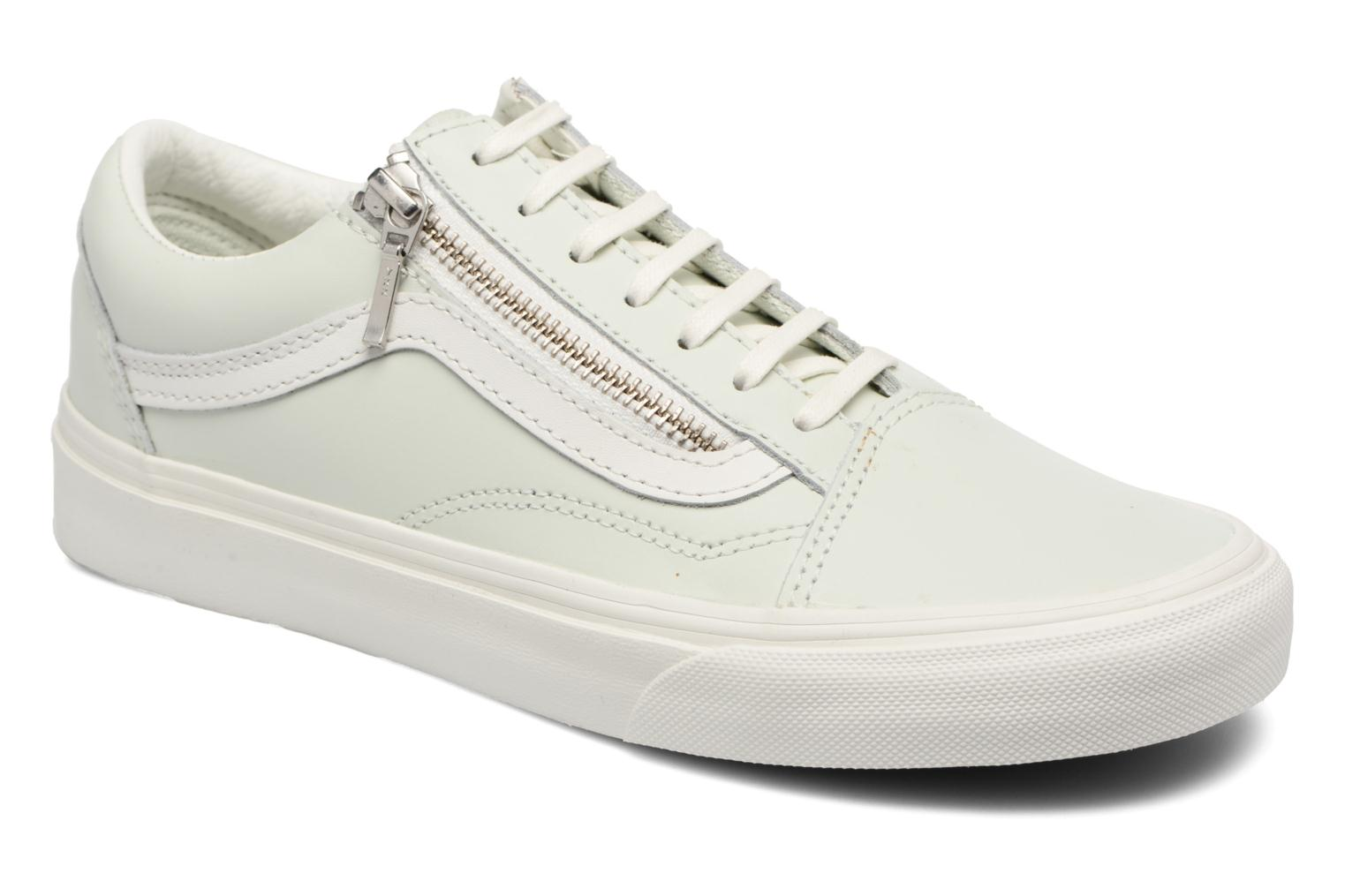Old Skool Zip (Leather) Zephyr Blue/Blanc De Blanc