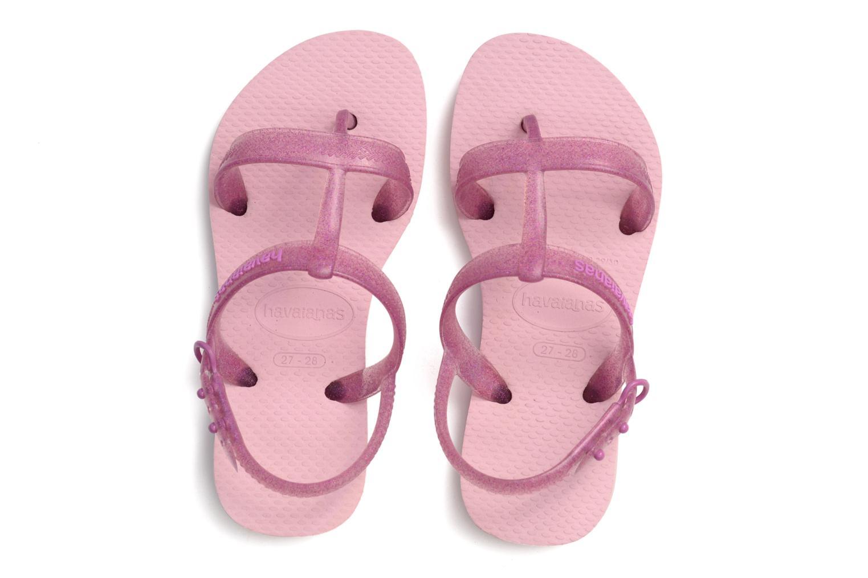 Sandals Havaianas Kids Joy Pink 3/4 view