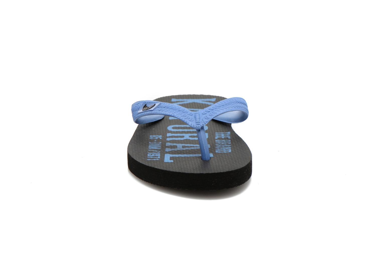 Tongs Kaporal Sulyvan Bleu vue portées chaussures