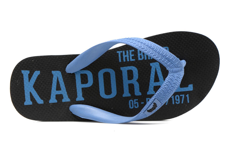 Flip flops Kaporal Sulyvan Blue view from the left