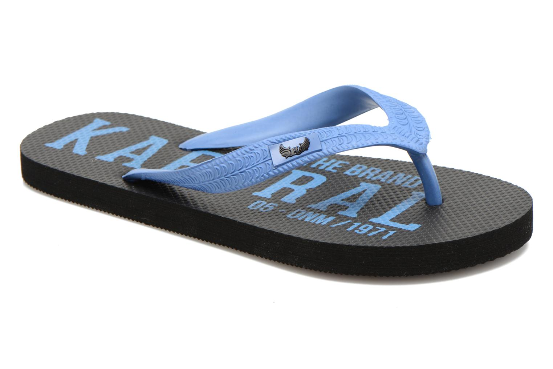 Flip flops Kaporal Sulyvan Blue detailed view/ Pair view
