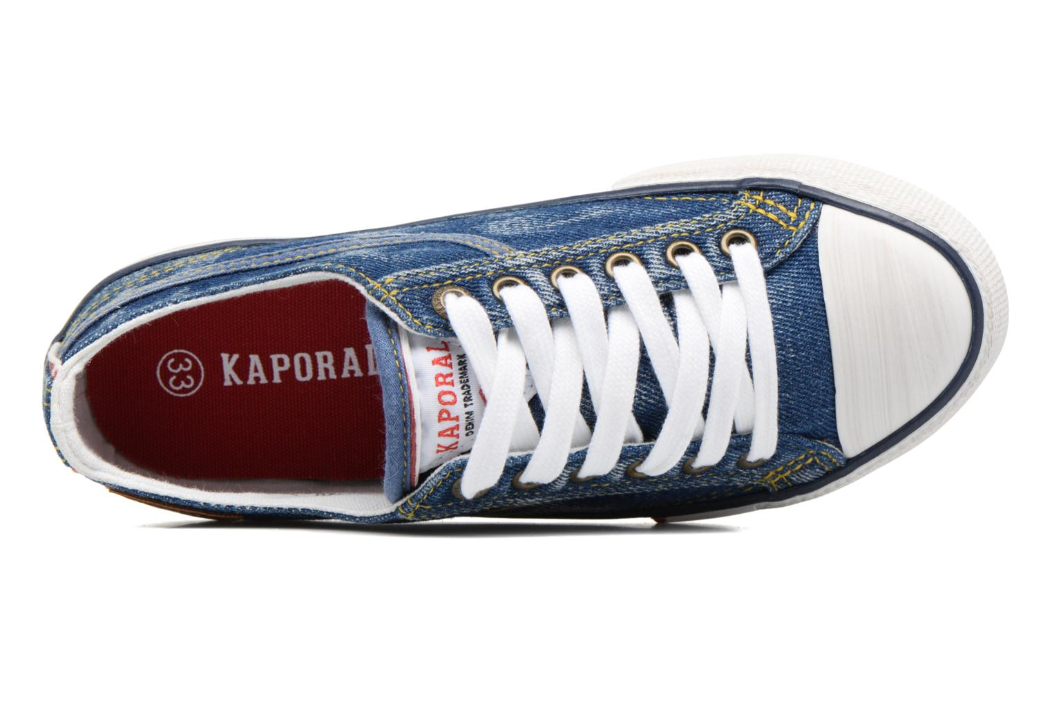 Trainers Kaporal Icario Blue view from the left