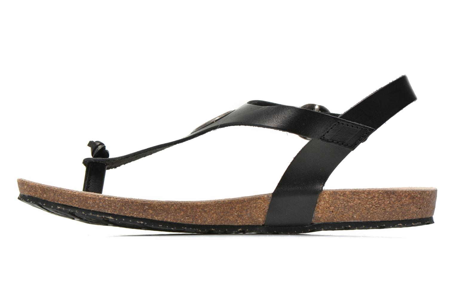 Sandals TBS Inayah Black front view