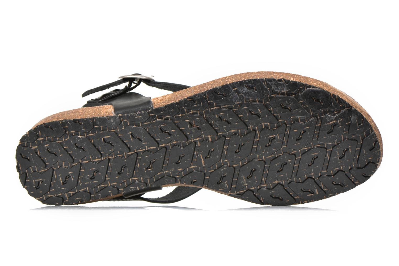 Sandales et nu-pieds TBS Inayah Noir vue haut