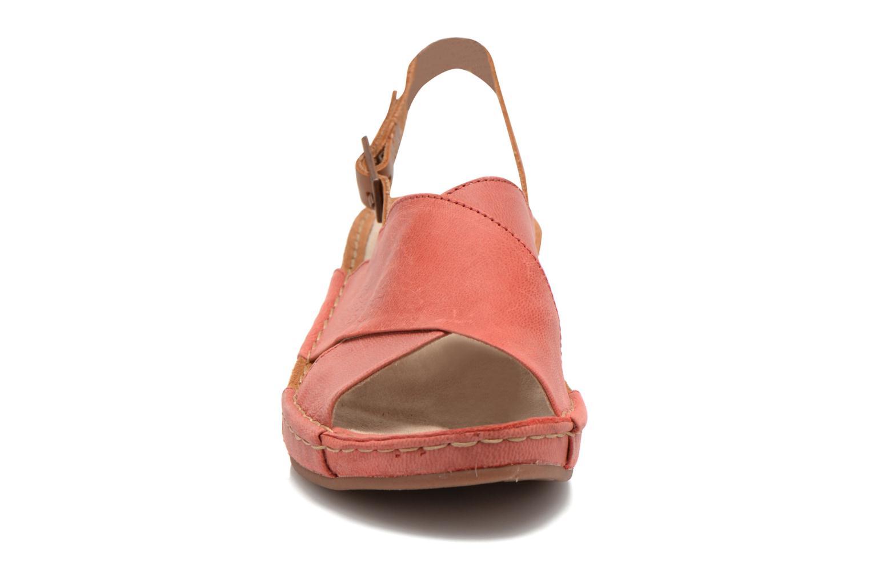 Sandales et nu-pieds TBS Valina Rouge vue portées chaussures