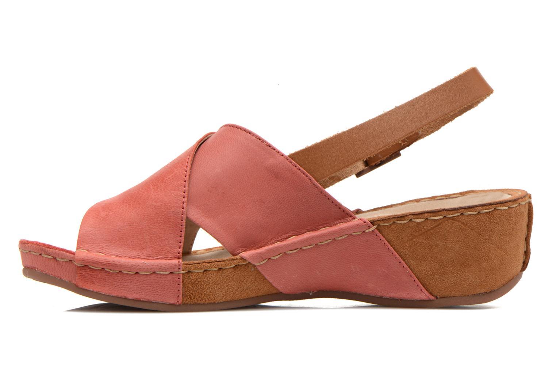 Sandales et nu-pieds TBS Valina Rouge vue face