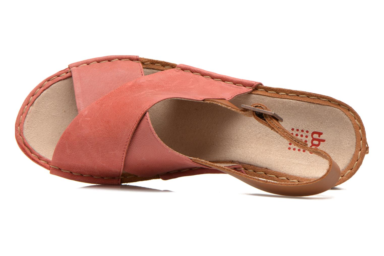 Sandales et nu-pieds TBS Valina Rouge vue gauche