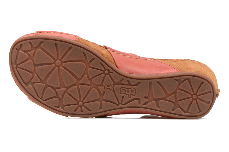 Sandales et nu-pieds TBS Valina Rouge vue haut