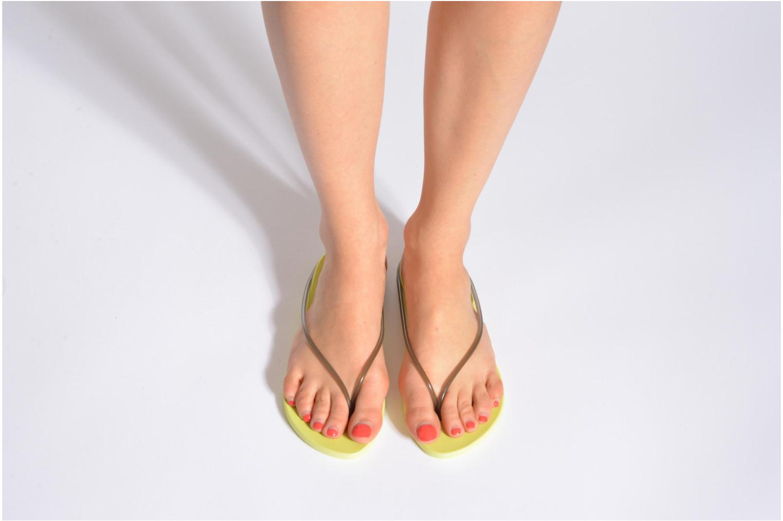 Flip flops Ipanema Philippe Starck Thing M Fem Orange view from underneath / model view