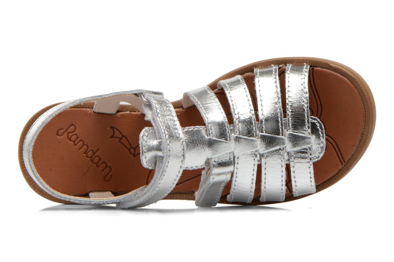 Sandales et nu-pieds Ramdam by GBB Katagami Argent vue gauche