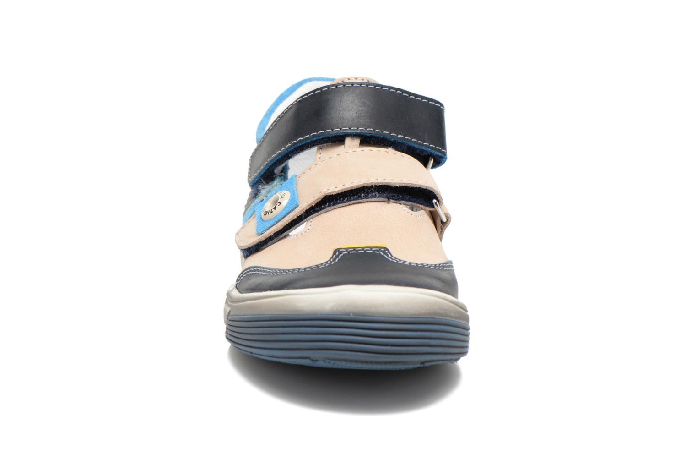 Chaussures à scratch Catimini Chicoree Bleu vue portées chaussures