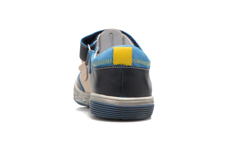 Chaussures à scratch Catimini Chicoree Bleu vue droite