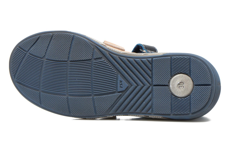 Chaussures à scratch Catimini Chicoree Bleu vue haut