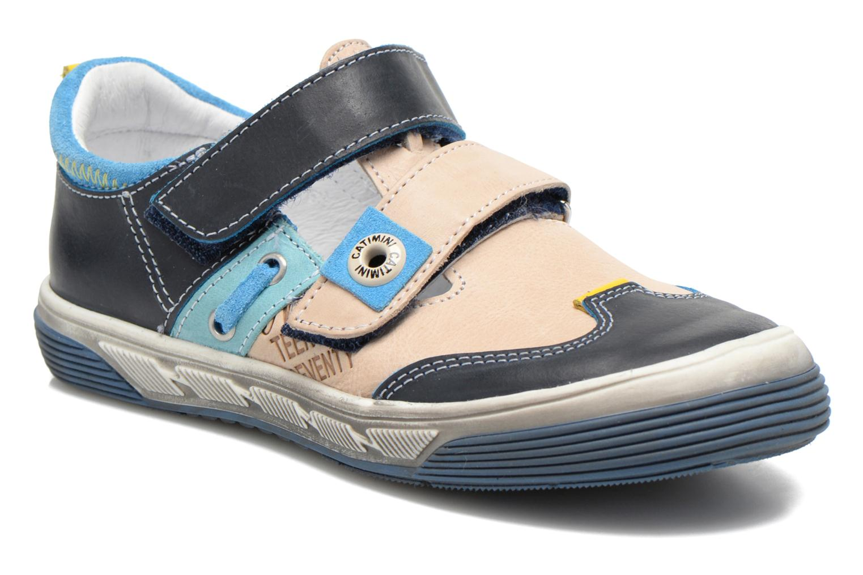 Chaussures à scratch Catimini Chicoree Bleu vue détail/paire