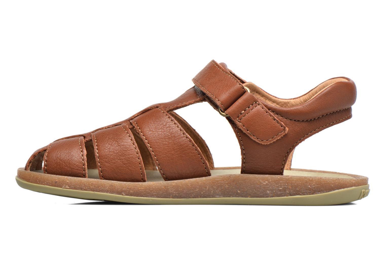 Sandales et nu-pieds Camper Bicho E Marron vue face