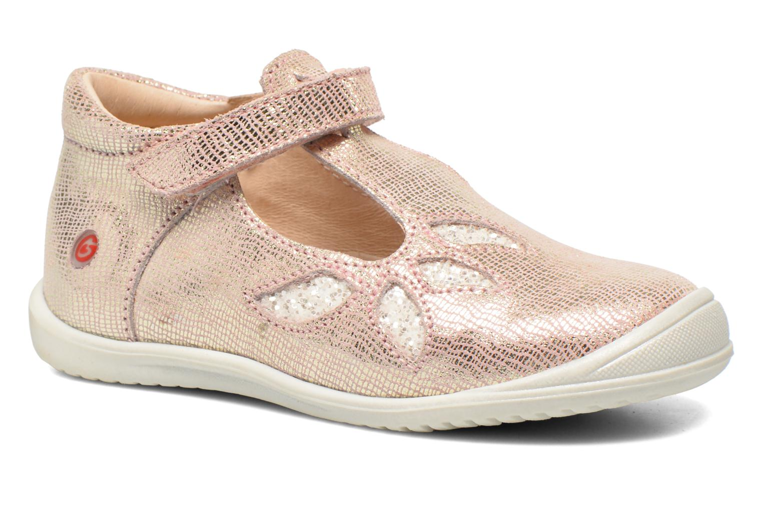 Velcro shoes GBB Margot Pink detailed view/ Pair view
