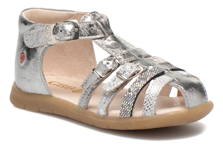 Sandales et nu-pieds GBB Mina Argent vue détail/paire