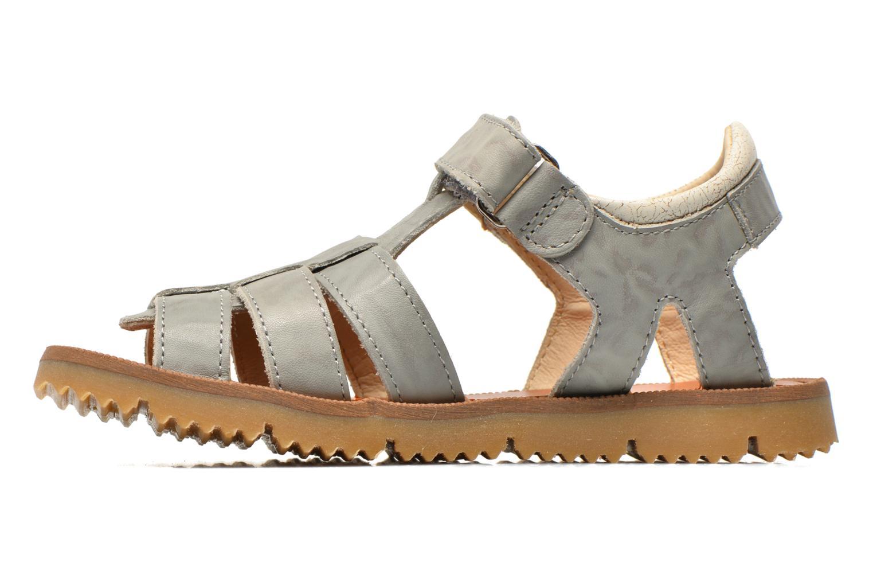 Sandales et nu-pieds GBB Martial Gris vue face