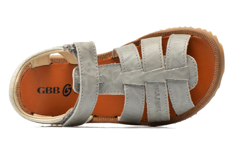 Sandales et nu-pieds GBB Martial Gris vue gauche