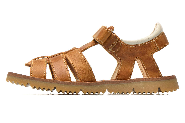 Sandales et nu-pieds GBB Martial Marron vue face