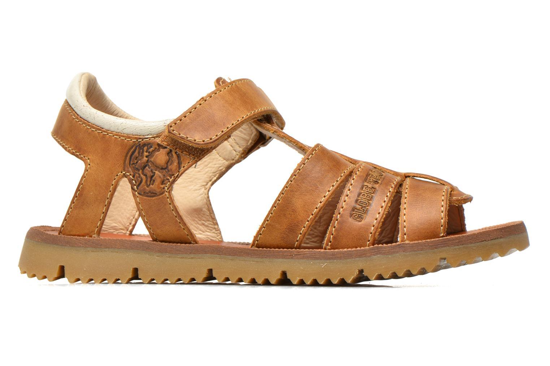 Sandales et nu-pieds GBB Martial Marron vue derrière