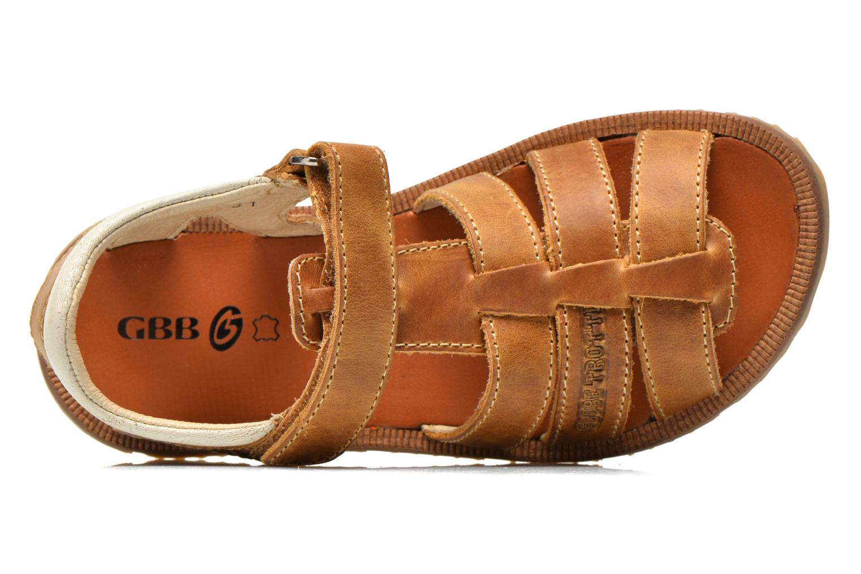 Sandales et nu-pieds GBB Martial Marron vue gauche