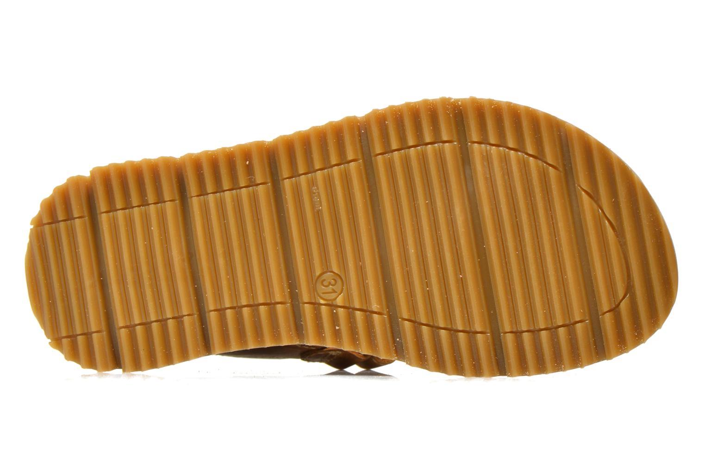 Sandales et nu-pieds GBB Martial Marron vue haut