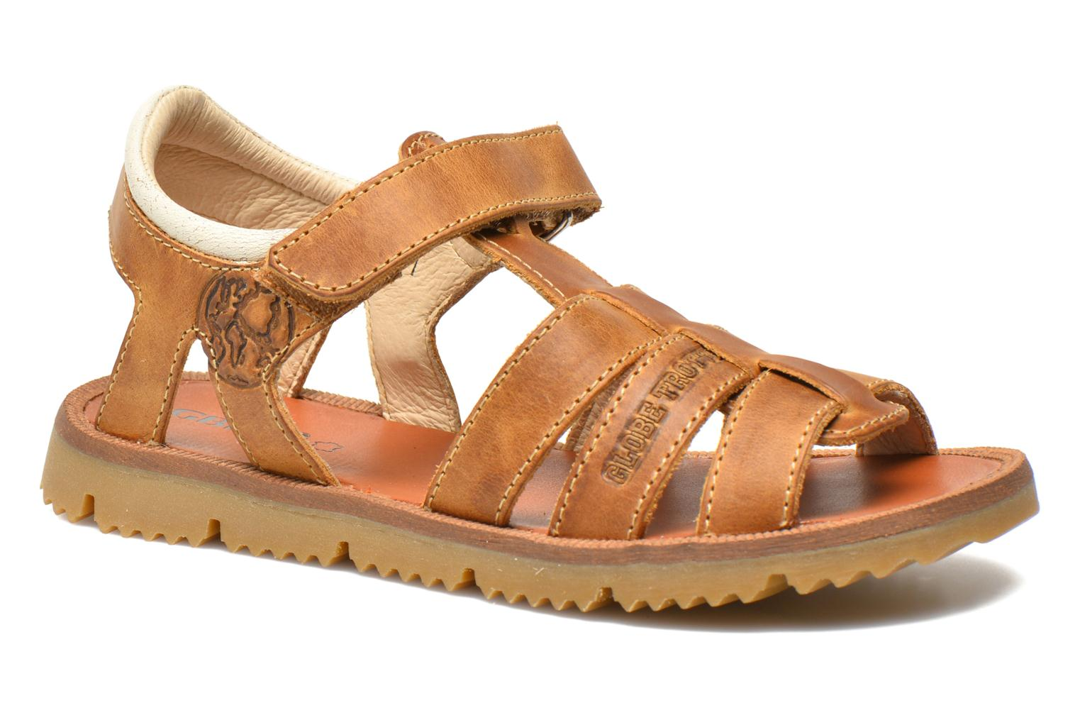 Sandals GBB Martial Brown detailed view/ Pair view
