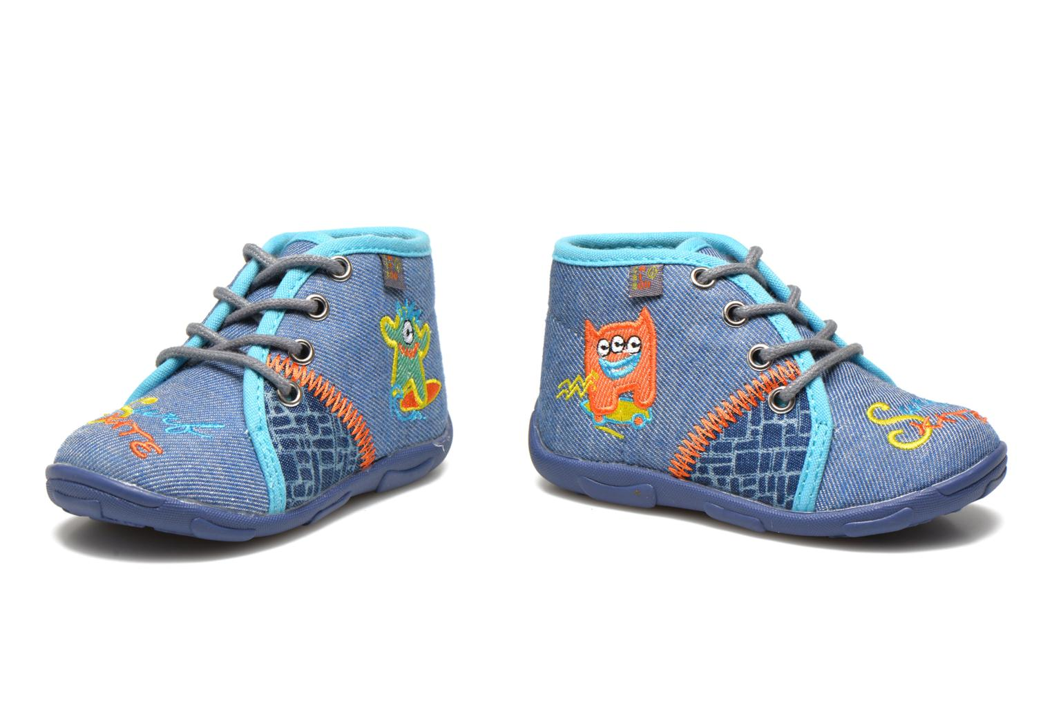 Slippers GBB Maxime Blue 3/4 view
